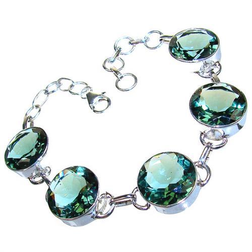 Green Amethyst Sterling Silver Bracelet 201 12 M Silver