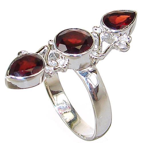 Shopping Product  Q Silver Garnet Ring