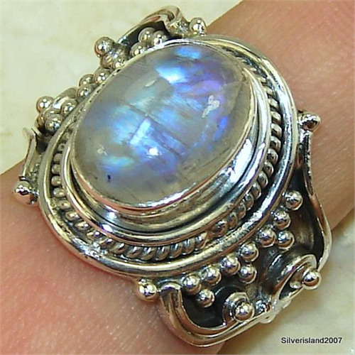 moonstone sterling silver ring jewellery size p 1