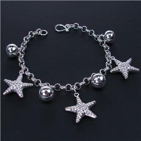 Delightful Infinity Sterling Silver Bracelet