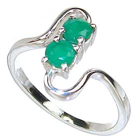 created emerald sterling silver ring size p 16 28 s