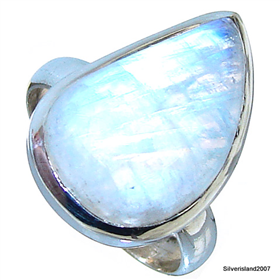 moonstone sterling silver ring silver gemstone ring 115