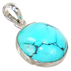 Fancy turquoise sterling silver pendant 16017z silver island uk fancy turquoise sterling silver pendant aloadofball Choice Image