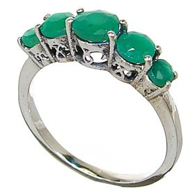 created emerald sterling silver ring size o 113 12 q