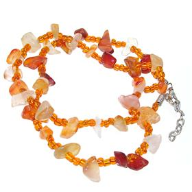Carnelian Agate Fashion Necklace 20 inches long
