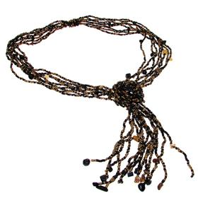 Elegant Beaded Fashion Necklace 24 inches long