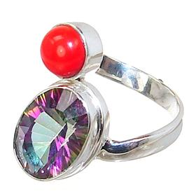 Mystic Topaz Sterling Silver Ring size Q