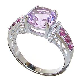 Stunning Amethyst Sterling Silver Ring size Q