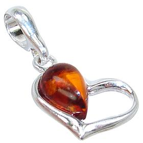 Honey Amber Sterling Silver Pendant