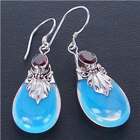 Fire Opalite Sterling Silver Earrings