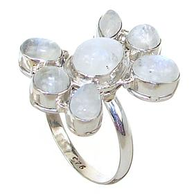 Large Moonstone Sterling Silver Ring size Y