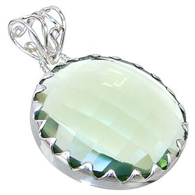 Green Quartz Sterling Silver Pendant