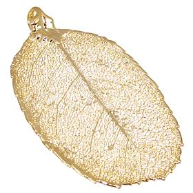 Large Unique Real Leaf Dipped in 24k Gold Pendant