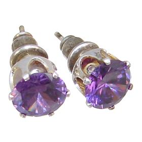 Purple Quartz Fashion Earrings Stud