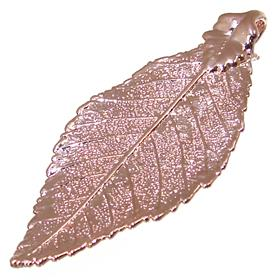 Unique Real Leaf Dipped in 24k Rose Gold Pendant