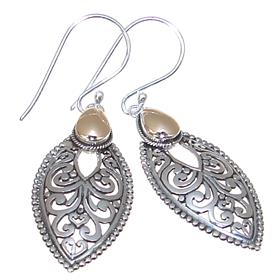 Fancy Plain Sterling Silver Earrings