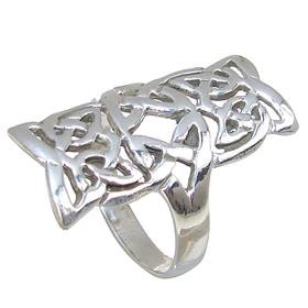 Celtic Plain Sterling Silver Ring size S 1/2