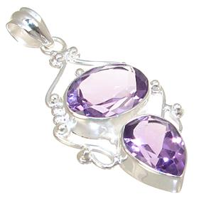 Stunning Purple Quartz Sterling Silver Pendant