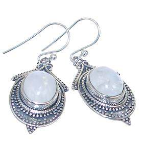 Rainbow Moonstone Sterling Silver Gemstone Earrings