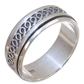 Modern Plain Sterling Silver Ring size T