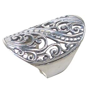 Modern Plain Sterling Silver Ring size Q 1/2