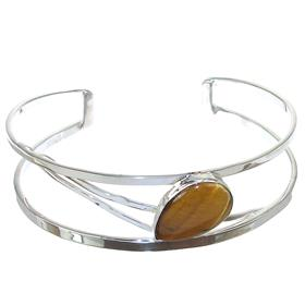 Tiger Eye Sterling Silver Bracelet Bangle