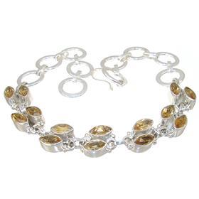 Sunny Citrine Sterling Silver Bracelet