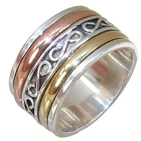 Modern Solid Plain Sterling Silver Ring size U