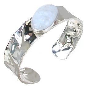 Designer Moonstone Sterling Silver Bracelet Bangle