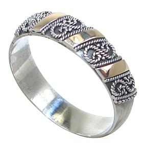 Modern Solid Plain Sterling Silver Ring size P