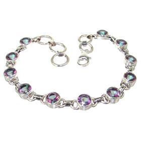 Mystic Quartz Sterling Silver Bracelet