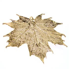 Large Real Leaf Dipped in 24k Gold Pendant