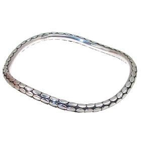 Solid Plain Sterling Silver Bracelet Bangle