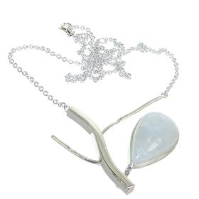 Moonstone Sterling Silver Necklace Jewellery 16 inches long