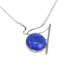 Lapis Lazuli Sterling Silver Necklace Jewellery 17 inches long