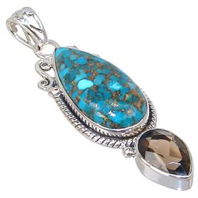 Copper Turquoise Sterling Silver Pendant