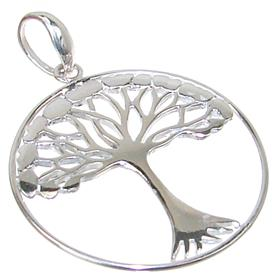 Fancy Tree Sterling Silver Pendant