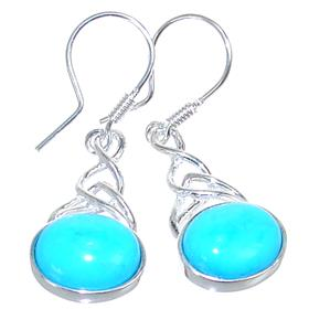 Designer Turquoise Sterling Silver Earrings