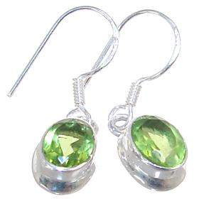 Green Quartz Sterling Silver Earrings