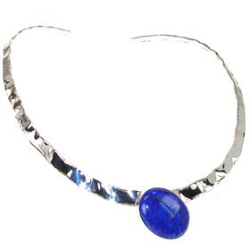 Stunning Lapis Lazuli Sterling Silver Necklace Jewellery