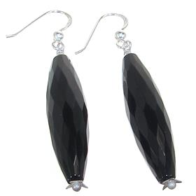 Elegant Onyx Sterling Silver Earrings