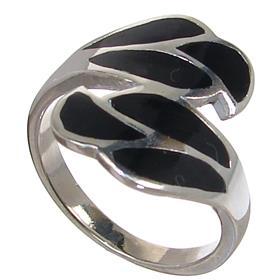 Black Onyx Sterling Silver Ring size O 1/2