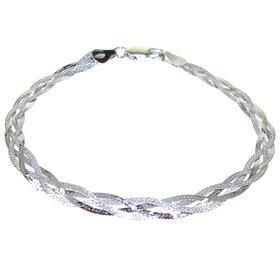 Elegance Plain Sterling Silver Bracelet