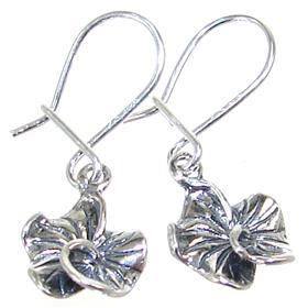 Fancy Plain Sterling Silver Earrings