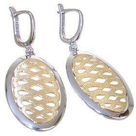 Engraved Sterling Silver Earrings