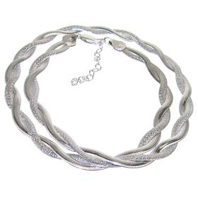 Elegant Sterling Silver Necklace length 18 inches
