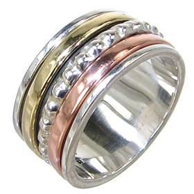 Modern Solid Plain Sterling Silver Ring size P 1/2