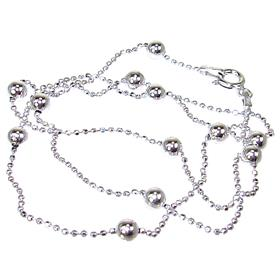 Ball Sterling Silver Chain 17 inches