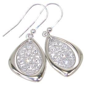 White Quartz Sterling Silver Earrings