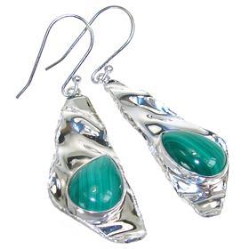Incredible Malachite Sterling Silver Earrings
